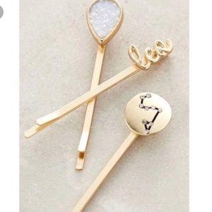 Anthropologie zodiac Bobby pin set of 3 - Leo